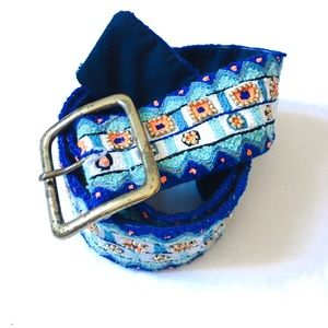 Anthropologie Pia Pauro Embroidered Beaded Belt M